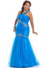 2013 Party Time Ruched Torso Gown 6261