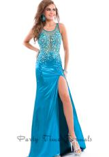 2014 Party Time Sheer Beaded Bodice Dress 6427