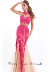 Party Time Formals 6449.  Available in Black/Nude, Fuchsia/Nude, Royal/Nude