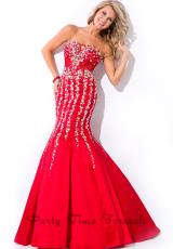Party Time Formals 6461.  Available in Red, Royal