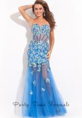 2014 Party Time Sheer Bodice Dress 6465
