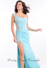 Party Time Dresses 6523.  Available in Aqua, Cobalt, Red