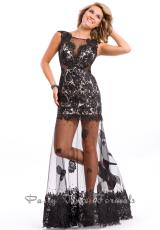 2014 Party Time Lace Bodice Dress 6531