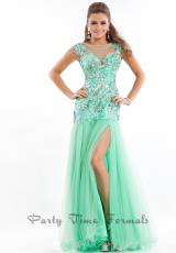 Party Time Dresses 6569.  Available in Mint, Pink, Turquoise