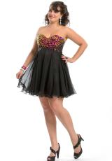 2013 Party Time Short Strapless Gown 6966