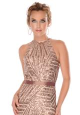 Precious Formals L46710.  Available in Black, Champagne, Silver