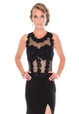 Precious Formals L46752.  Available in Black, Red