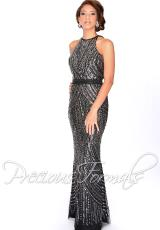 Precious Formals L46754.  Available in Black/Pewter