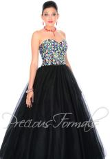 Precious Formals Lace Back Prom Dress O21050
