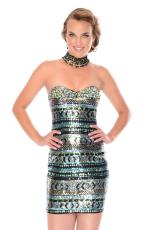 Precious Formals P46728.  Available in Black/Azteca