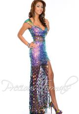 Precious Formals P9015.  Available in Iridescent Purple Multi