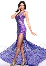 Precious Formals P9018.  Available in Iridescent Purple/Royal