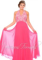 Precious Formals Beaded Top Prom Dress W10539