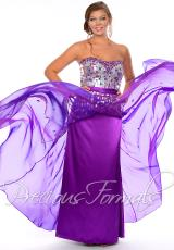 Precious Formals W21046.  Available in Fuchsia/Red, Majestic Blue, Purple