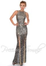Precious Formals P9065.  Available in Champagne/Silver, Nude/Pewter
