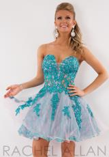 2014 Rachel Allan Lace Bodice Homecoming Dress 6707