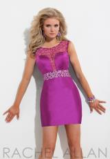 2014 Rachel Allan Sheer Beaded Sleeves Homecoming Dress 6723