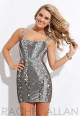 Rachel Allan 6742.  Available in Gunmetal, Royal, White/Gold