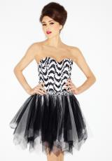 2013 Riva Short White Homecoming Dress L948