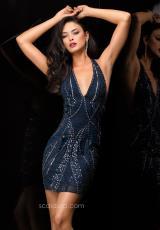 2014 Scala V- Neckline Homecoming Dress 48346