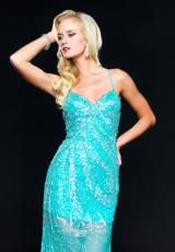 2014 Sean Beaded Blue Prom Dress 70712