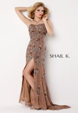 2014 Shail K Side Slit Prom Dress 3330