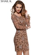 2014 Shail K Long Sleeved Homecoming Dress 3419