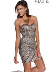 Strapless 2014 Shail K Homecoming Dress 3458