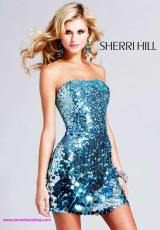 Sherri Hill Short 8433.  Available in Blue, Green, Lilac, Pink