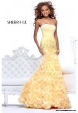 2013 Sherri Hill Fitted Bodice Prom Dress 8500
