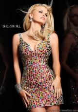 2013 Sherri Hill Short Prom Dress 11009