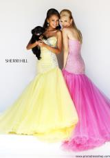 2014 Sherri Hill Tulle Skirt Prom Dress 11105