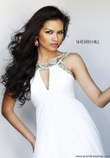2014 Sherri Hill White Prom Dress 11109