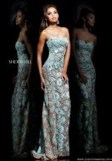 Sherri Hill 11126.  Available in Aqua/Silver, Coral/Silver, Ivory/Silver, Light Blue/Silver, Nude/Silver