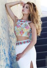 Sherri Hill 11168.  Available in Ivory/Multi