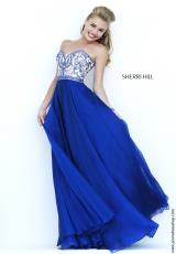 Sherri Hill 1947.  Available in Navy, Peacock, Ruby, Teal