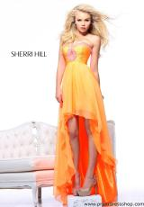 Sherri Hill 21114.  Available in Neon Orange