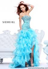 Sherri Hill 21127.  Available in Aqua, Coral, Lilac, Pink