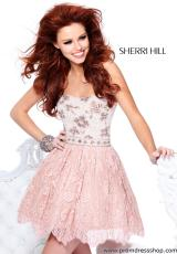 2013 Sherri Hill Short Lace Prom Dress 21149