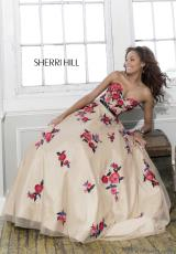 Sherri Hill 21340.  Available in Nude/Multi