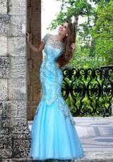 Sherri Hill 21369.  Available in Ivory/Gold, Light Blue/Silver/Gold