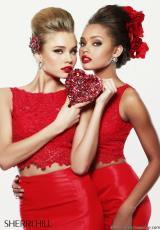 Sherri Hill 21372.  Available in Ivory, Red, Royal