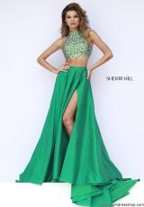 Sherri Hill 32020.  Available in Blush, Emerald, Light Blue, Navy, Pink, Red, Royal, Turquoise