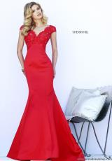 Sherri Hill 32029.  Available in Red/Nude
