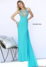 Sherri Hill 32043.  Available in Aqua, Black/Emerald, Ivory/Gold, Purple, Red, Royal
