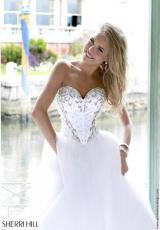Sherri Hill 32078.  Available in Ivory/Silver