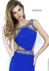 Sherri Hill 32140.  Available in Black/Gold, Ivory/Gold, Red/Gunmetal, Royal/Gold
