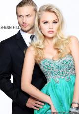 2013 Sherri Hill Flowy High Low Prom Dress 3869