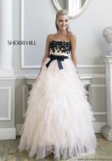 2014 Sherri Hill Lace Top Prom Dress 4318