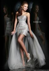 2014 Sherri Hill Silver Prom Dress 4801